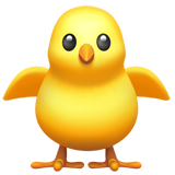 Front-Facing Baby Chick on Apple iOS 11.2