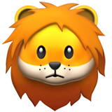Lion Face on Apple iOS 11.2