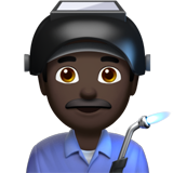 Man Factory Worker: Dark Skin Tone on Apple iOS 11.2