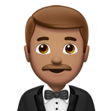 Man in Tuxedo: Medium Skin Tone on Apple iOS 11.2