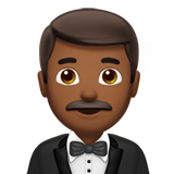 Man in Tuxedo: Medium-Dark Skin Tone on Apple iOS 11.2