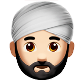 Man Wearing Turban: Light Skin Tone on Apple iOS 11.2