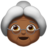 Old Woman: Medium-Dark Skin Tone on Apple iOS 11.2
