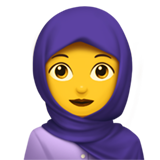 Woman With Headscarf on Apple iOS 11.2