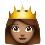 Princess: Medium Skin Tone on Apple iOS 11.2