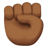 Raised Fist: Medium-Dark Skin Tone on Apple iOS 11.2