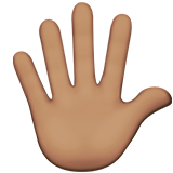 Hand with Fingers Splayed: Medium Skin Tone on Apple iOS 11.2
