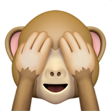 See-No-Evil Monkey on Apple iOS 11.2