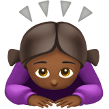 Woman Bowing: Medium-Dark Skin Tone on Apple iOS 11.2