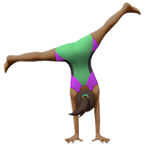 Woman Cartwheeling: Medium-Dark Skin Tone on Apple iOS 11.2