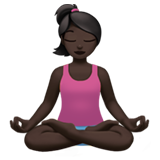 Woman in Lotus Position: Dark Skin Tone on Apple iOS 11.2