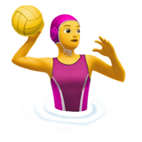 Woman Playing Water Polo on Apple iOS 11.2