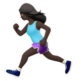 Woman Running: Dark Skin Tone on Apple iOS 11.2