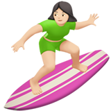 Woman Surfing: Light Skin Tone on Apple iOS 11.2