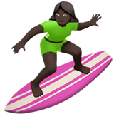 Woman Surfing: Dark Skin Tone on Apple iOS 11.2