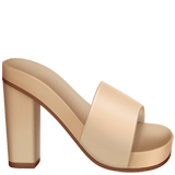 Woman's Sandal on Apple iOS 11.2