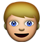 Person: Blond Hair on Apple iOS 4.0