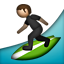 Person Surfing on Apple iOS 4.0