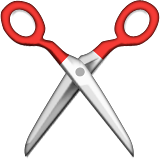 Scissors on Apple iOS 5.1