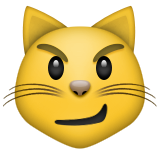 Cat Face With Wry Smile on Apple iOS 5.1