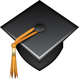 Graduation Cap on Apple iOS 5.1