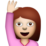Person Raising Hand on Apple iOS 5.1