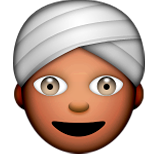 Person Wearing Turban on Apple iOS 5.1