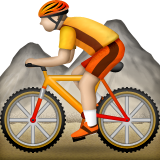 Person Mountain Biking on Apple iOS 5.1
