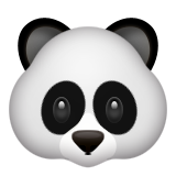 Panda Face on Apple iOS 5.1