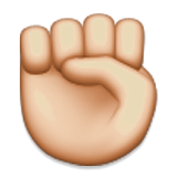 Raised Fist on Apple iOS 5.1