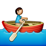 Person Rowing Boat on Apple iOS 5.1