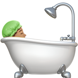 Person Taking Bath: Medium Skin Tone on Apple iOS 11.3