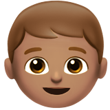 Boy: Medium Skin Tone on Apple iOS 11.3