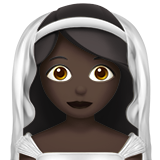 Bride With Veil: Dark Skin Tone on Apple iOS 11.3