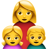 Family: Woman, Girl, Boy on Apple iOS 11.3
