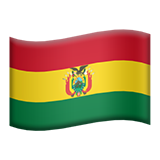 Flag: Bolivia on Apple iOS 11.3