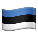Flag: Estonia on Apple iOS 11.3