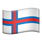 Flag: Faroe Islands on Apple iOS 11.3