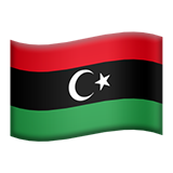 Flag: Libya on Apple iOS 11.3