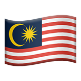 Flag: Malaysia on Apple iOS 11.3