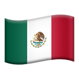 Flag: Mexico on Apple iOS 11.3