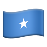 Flag: Somalia on Apple iOS 11.3