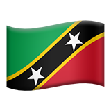 Flag: St. Kitts & Nevis on Apple iOS 11.3