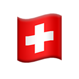 Flag: Switzerland on Apple iOS 11.3