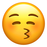 Kissing Face with Closed Eyes on Apple iOS 11.3