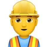 Man Construction Worker on Apple iOS 11.3