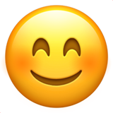 Smiling Face with Smiling Eyes on Apple iOS 11.3