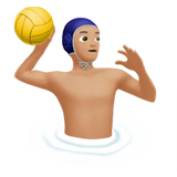 Person Playing Water Polo: Medium-Light Skin Tone on Apple iOS 11.3