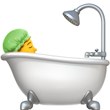 Person Taking Bath on Apple iOS 12.1