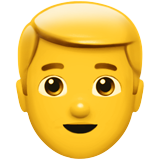 Man: Blond Hair on Apple iOS 12.1